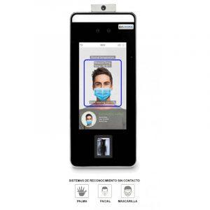 Terminal biométrico de reconocimiento facial y temperatura