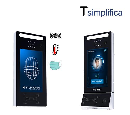 Terminal WIFI con reconocimiento facial y detección de temperatura y mascarilla