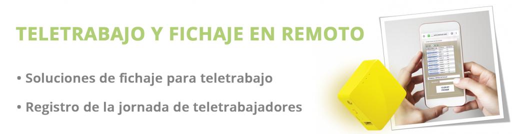 Sistemas de fichaje online teletrabajo